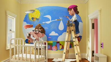 Painting the baby's room